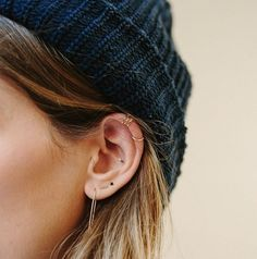 Get creative with your placement // The Art of Adornment: How To Wear Multiple Earrings