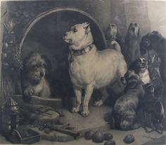 After Landseer ~ Alexander & Diogenes