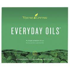 Everyday Oils Csomag #369508 Az Everyday Oils csomag ideális ahhoz, hogy az olajokat a napja, minden napja létfontosságú részévé tegye. A csomag az alábbiakat tartalmazza: Tíz 5 ml-es üveg: tömjén, Joy, citrom, levendula, Panaway, borsmenta, Purification, Thieves, Stress Away, Ausztrál teafa