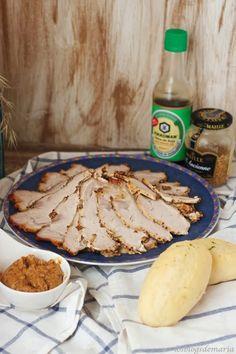 Lomo a la mostaza antigua y salsa de soja Meat Recipes, Cooking Recipes, Carne Asada, Quiche, Camembert Cheese, Healthy Lifestyle, Food And Drink, Pork, Menu