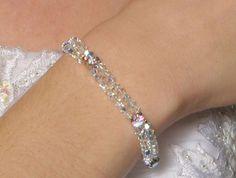 Dazzling swarovski crystal wedding bracelet - SALE
