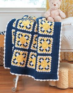 Picture of Granny Square Baby Afghans                                                                                                                                                                                 Mais