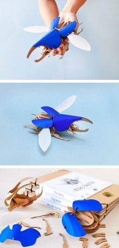 Balancing anatomical correctness with a refined design sensibility, these DIY Beetle Models by Assembli are as fun to put together as they are to admire once they're finished. The finely detailed design includes rendering of the beetle's joints as well as wing venation. The Hercules Beetle is available in a brilliant Cobalt Blue and comes with an optional display board.