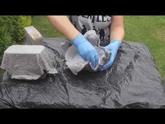 Doniczki z cementu / Cement pots - YouTube