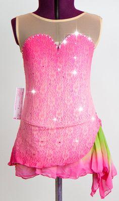 Custom Figure Skating Dress w/ Clarus Crystals. $165.99, via Etsy. I love this!