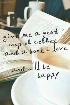 Cafés y libro