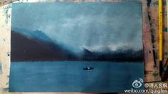 Gouache,the lake
