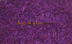 Arroz en violeta