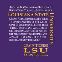 LSU - Louisiana State University Tigers - geaux Tigers print - for fooball                                                                                                                                                                                 More