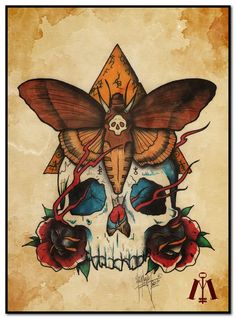 ☮✿★ SKULLS ✝☯★☮ Tattoo Painting Art