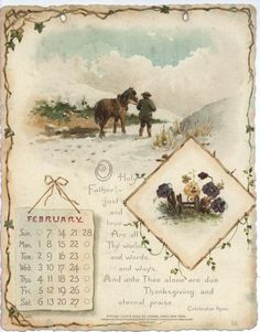 NOBLE THOUGHTS FROM WHITTIER CALENDAR FOR 1897. Vintage Ephemera, Vintage Cards, Vintage Images, Vintage Signs, Vintage Calendar, Vintage Love, Vintage Floral, Calendar Pages, Victorian Art