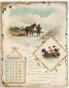 NOBLE THOUGHTS FROM WHITTIER CALENDAR FOR 1897. Vintage Ephemera, Vintage Cards, Vintage Images, Vintage Signs, Journal Pages, Journals, Vintage Calendar, Vintage Love, Vintage Floral