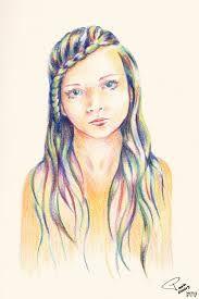 Resultado de imagem para braids drawing