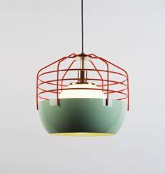 Modern Pendant Light Design Ideas for Home Interior Lighting, Bluff City Lights by Jonah Takagi Eclectic Pendant Lighting, Modern Pendant Light, Modern Lighting, Lighting Design, Lighting Ideas, Retro Lighting, Pendant Lamps, Bar Lighting, Birdcage Lamp