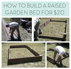$20 Raised Garden Bed   12 Creative DIY Pallet Planter Ideas for Spring   Beautiful Pallet Gardening Crafts, check it out at http://diyready.com/pallet-projects-gardening-supplies/
