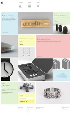 Aesthetic Invention is a good ideas unit - Webdesign inspiration www.niceoneilike.com