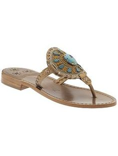Morning Coffee: Slipping your toes into these gorg Jack Rogers' will transition you into Jackie O and kick off your weekend with style.    Jack Rogers Georgica Jewel | Piperlime