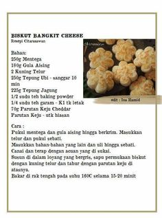 Bangkit cheese Ice Cream Cookies, Fancy Cookies, No Bake Cookies, Cupcake Cookies, Resepi Cookies, Dog Food Recipes, Cookie Recipes, Snacks Dishes, Food Crafts