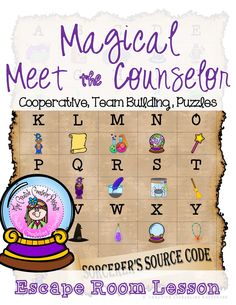 Magical Meet the School Counselor Wizard Escape Room Introduction Lesson Elementary School Counselor, Elementary Schools, Escape Room Puzzles, Counseling Activities, Guidance Lessons, Cooperative Learning, Activity Games, Team Building, Frogs