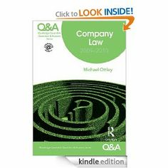 Q&A Routledge?Cavendish Questions & Answer Series Company Law: 2009-2010 (Questions and Answers) by Michael Ottley. $10.63