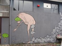 "Street art | Mural ""Cacca furba (Excrementum sapiens sapiens)"" (Milano, Italy) by NemO's"