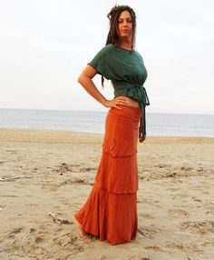 The Long Fountain Skirt hemp/organic cotton by gaiaconceptions, $160.00