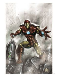 Indomitable Iron Man No.1 Cover: Iron Man Poster by Lucio Parrillo at AllPosters.com
