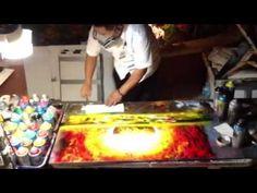 Spray paint art and brush 1