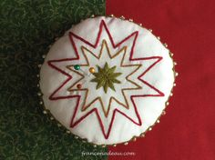 Christmas Star - pattern for embroidery - francenadeau.com