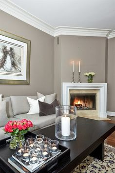 Wall, floor and fire place color combo