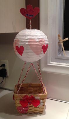 Hot air balloon valentines box