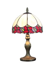 Stained Glass Small Decorative Bent Table Lamp