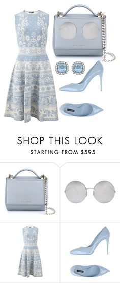 """""""Light Blue"""" by cherieaustin ❤ liked on Polyvore featuring Givenchy, Victoria Beckham, Alexander McQueen and Dolce&Gabbana"""