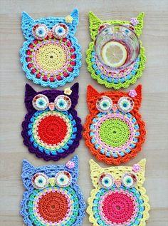 crochet owl coasters pattern Link Love for Best Crochet Patterns, Ideas and News Crochet Owls, Crochet Amigurumi, Crochet Home, Crochet Gifts, Cute Crochet, Crochet Flowers, Knit Crochet, Ravelry Crochet, Easy Crochet