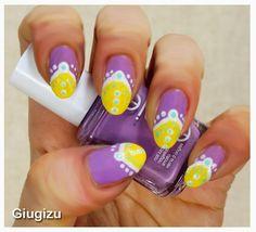 Check my new #nailart #tutorial here: http://giugizu.blogspot.it/2015/04/diy-purple-yellow-tribal-nailart.html #tribal #nails