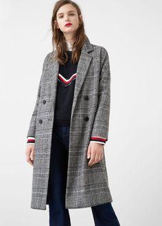 Prince of wales coat - Coats for Women | MANGO USA