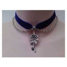 or choose another colour velvet from a wide choice. via Etsy. Ribbon Choker, Ribbon Necklace, Necklace Charm, Rose Necklace, Purple Necklace, Pendant Necklace, Purple Ribbon, Black Ribbon, Fantasy Jewelry