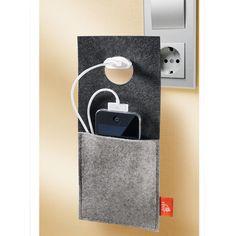 Ladetasche ebos® Design-Ladestation aus trendigem Filz: die Tasche für Handy, Player, Kamera, ...