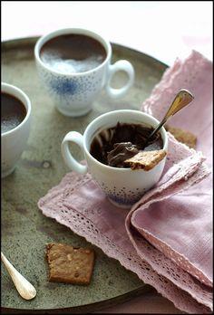 Petit pot de crème au chocolat noir & gingembre