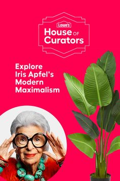 ring bold personality and energy to any room with Iris Apfel's Modern Maximalism curation for Lowe's House of Curators.​