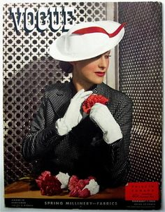 Vogue, February-1-1935    Cover by George Hoyningen-Huene. Fashions by Rose Descat, Jean Patou, Hattie Carnegie, Maria Guy