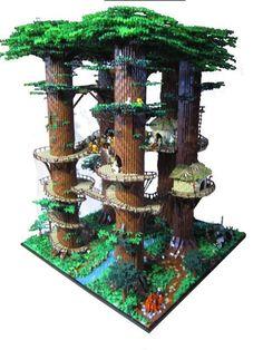 RETURN OF THE JEDI Comes to Life in This Massive LEGO Ewok Village | Nerdist