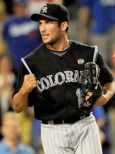 Huston Street pitched for the Colorado Rockies from In that time, he threw 170 games. Hot Baseball Players, Baseball Boys, Baseball Uniforms, Baseball Jerseys, San Francisco Giants, Dodgers, Rockies Baseball, Colorado Rockies, Denver Colorado