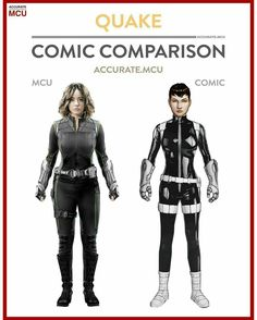 Daisy Johnson, also known as Quake, is a fictional superhero appearing in American comic books published by Marvel Comics. Created by writer Brian Michael Bendis and artist Gabriele Dell'Otto, the character first appeared in Secret War #2 (2004). Later appeared in Agents of S.H.I.E.L.D. (MCU).
