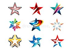 Star, Logo, Creative Set Of Abstract Stars Logo Collection, Stars Symbol Vector Design Element Stock Vector - Illustration of gold, glossy: 79654233 - Vector Design, Design Art, Logo Design, Identity Design, Creative Design, Eagle Drawing, Flame Art, Star Tattoo Designs, Star Logo