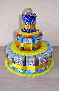Как сделать торт из соков и сладостей своими руками