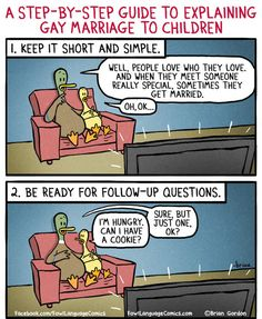 How to explain gay marriage to kids  - funny pictures #funnypictures
