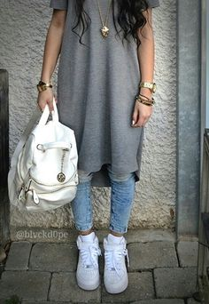White backpack and Air Force One