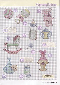 Cross-stitch Baby motifs part 2 Baby Cross Stitch Patterns, Cross Stitch For Kids, Cross Stitch Books, Mini Cross Stitch, Cross Stitch Cards, Cross Stitch Borders, Cross Stitch Alphabet, Cross Stitch Designs, Cross Stitching