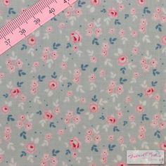 "Tilda Stine Greygreen Fabric  / ""The Seaside Life"" Quilt Collection - Fat Quarter / 50 cm x 55 cm"